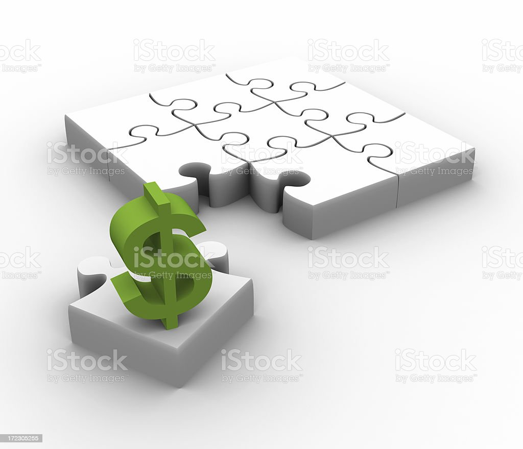 The missing piece is finance stock photo