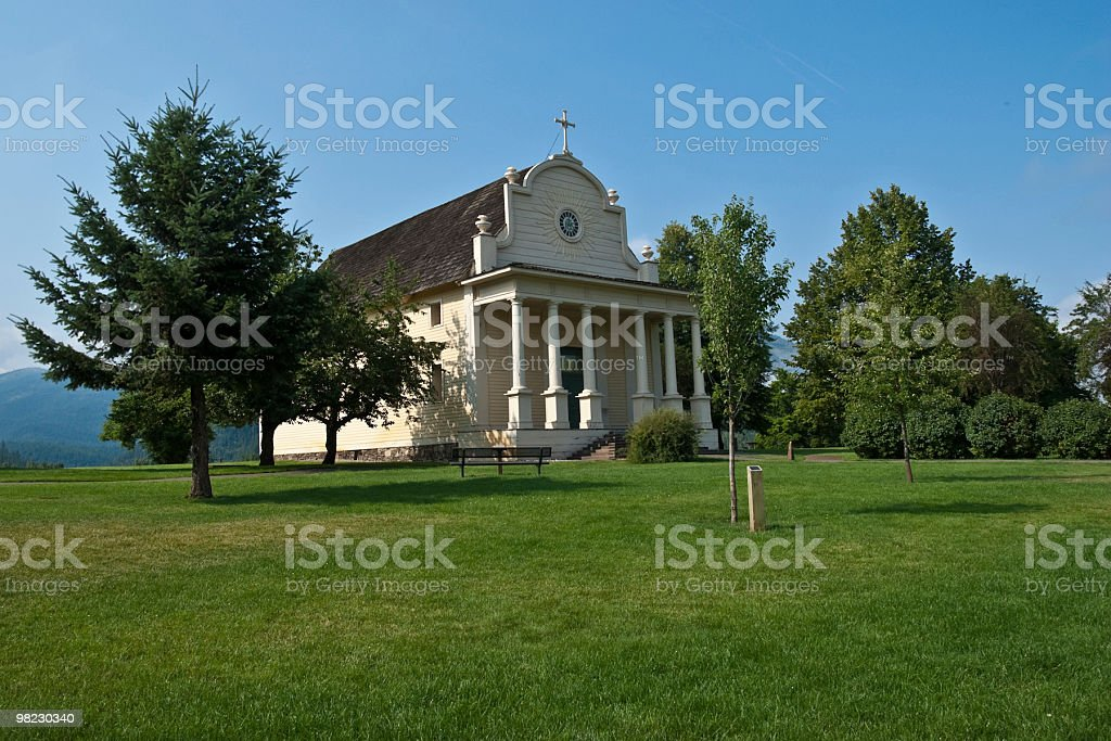 Church at Cataldo Mission royalty-free stock photo