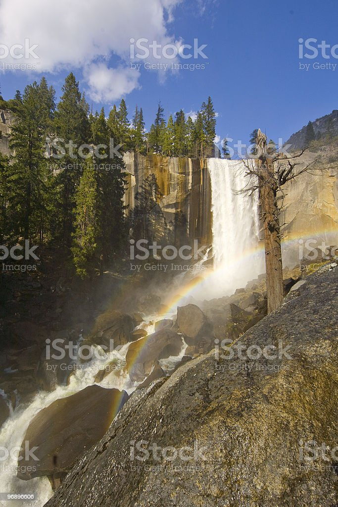 The Mist Trail and Vernal Fall royalty-free stock photo