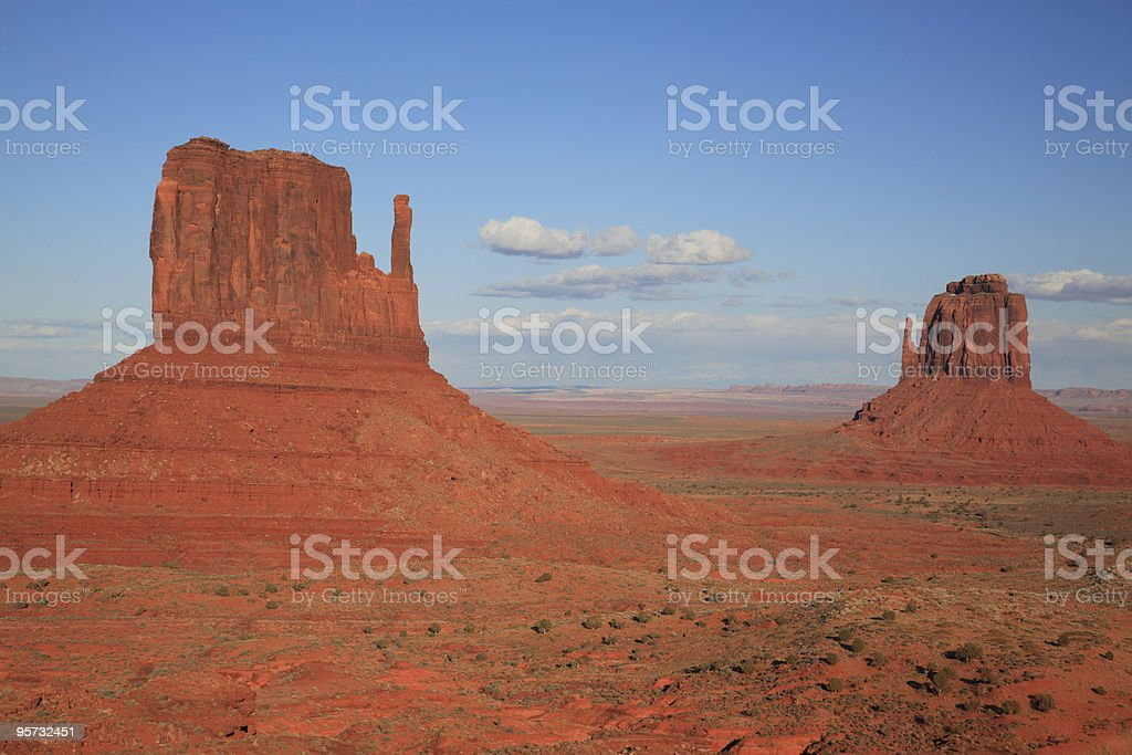 The Mittens, Monument Valley royalty-free stock photo
