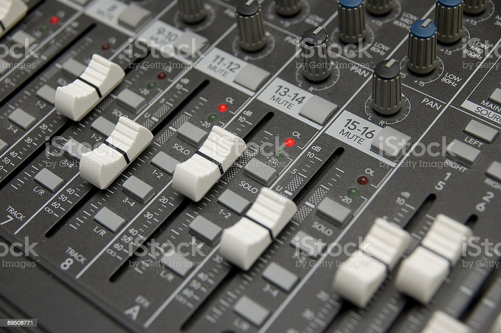 The Mixing Desk royalty-free stock photo