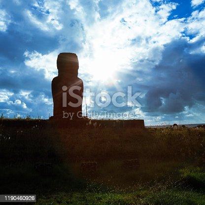 istock The Moai of Ahu Ature at Anakena Beach on Easter Island/Rapa Nui 1190460926