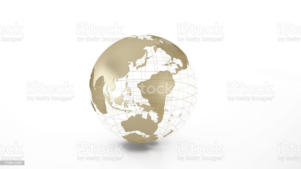 The model of golden globe. stock photo