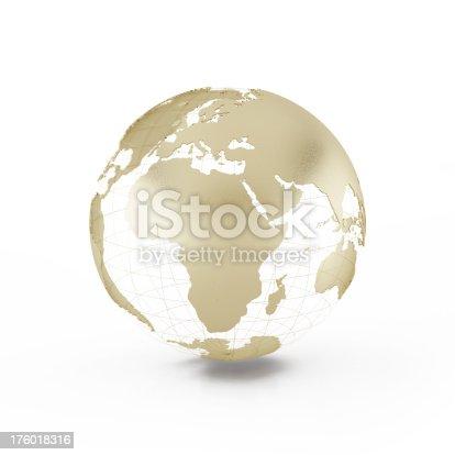 istock The model of golden globe. 176018316