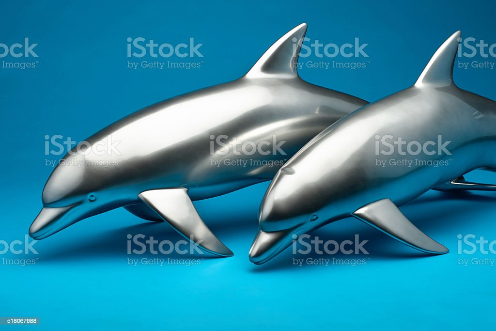 The model of two dolphins. stock photo