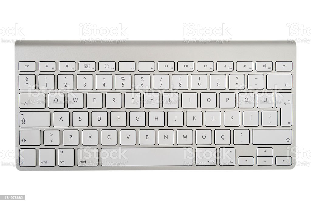 The modern and stylish keyboard for a computer stock photo