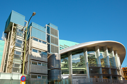 The modern architecture of Palacio de Deportes Sports Arena.