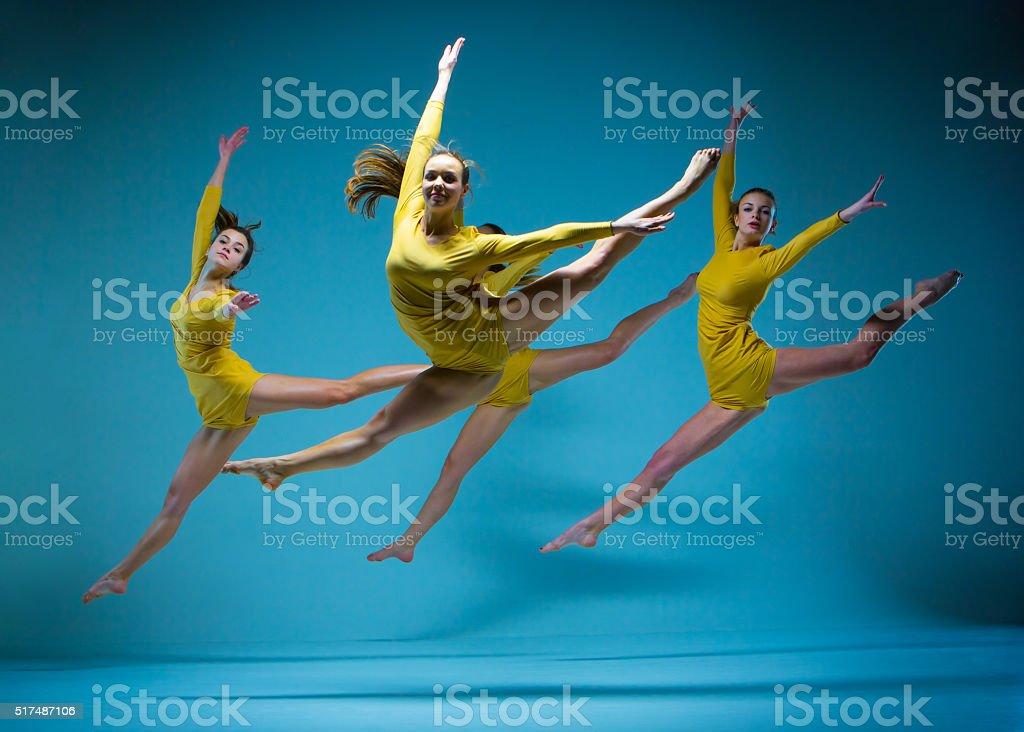 The modern ballet dancers stock photo