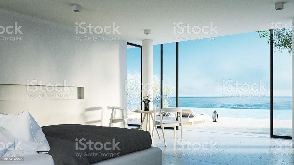 Moderna Camera Da Lettoterrazza Solarium Con Vista Mare ...