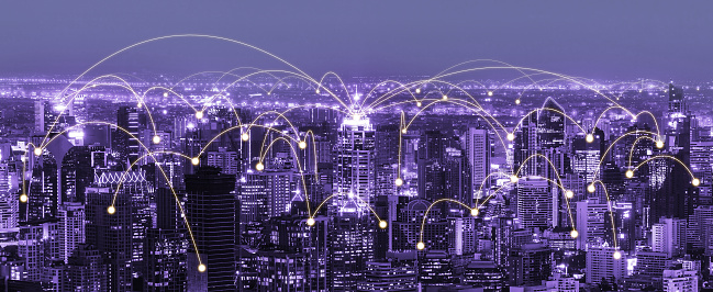 680917060 istock photo The modern creative communication and internet network connect in smart city 1248876466