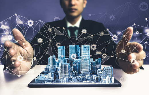680917060 istock photo The modern creative communication and internet network connect in smart city 1248876540