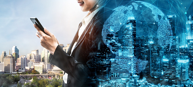 680917060 istock photo The modern creative communication and internet network connect in smart city 1252264597