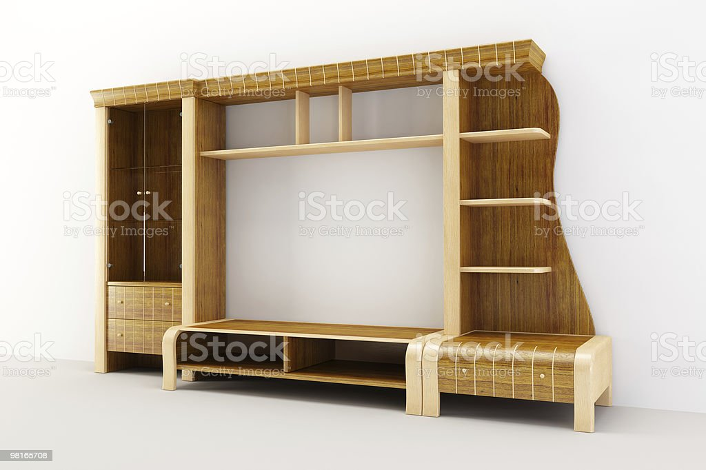the modern cupboard 3d rendering royalty-free stock photo