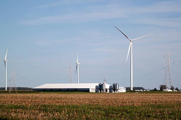 The Modern (wind) Farm stock photo