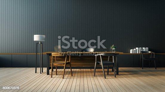 istock The modern interior of Boss office 500670376