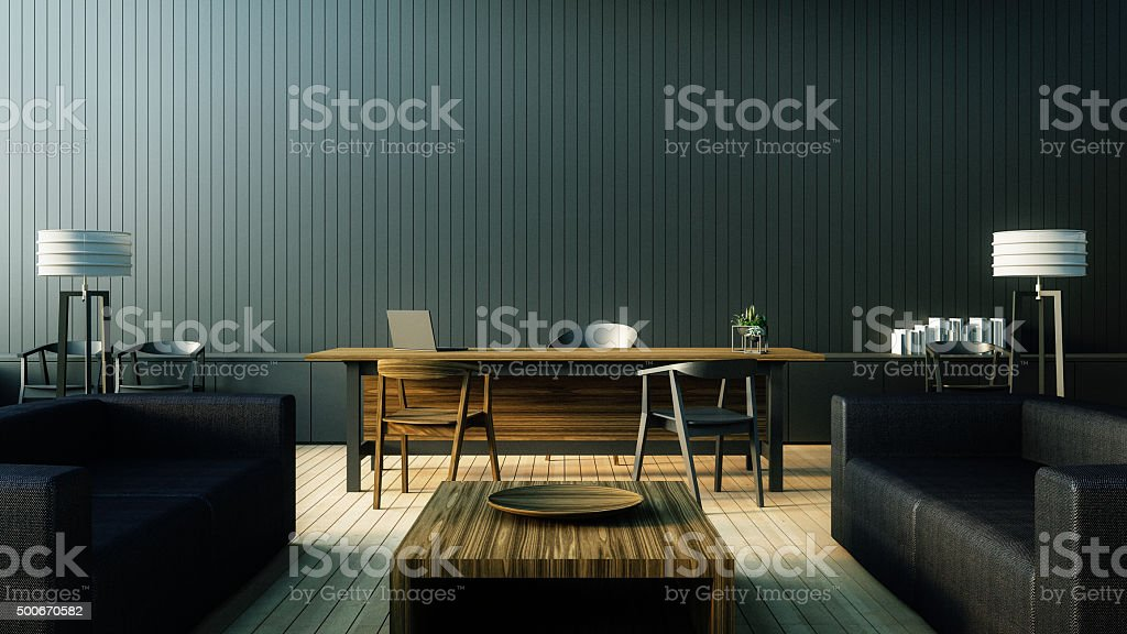 The modern interior of Boss office stock photo