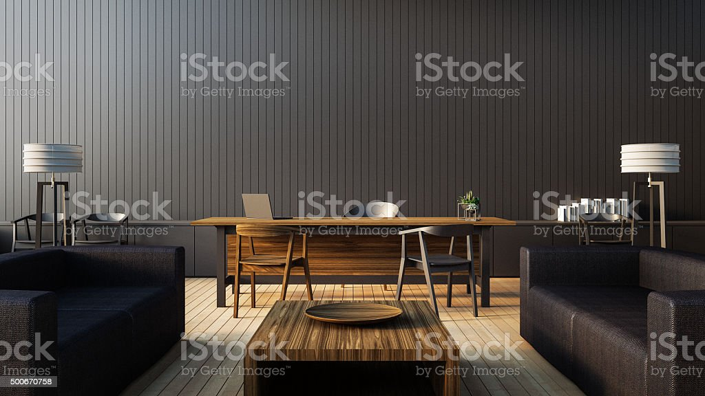 modern interior office stock. The Modern Interior Of Boss Office Royalty-free Stock Photo