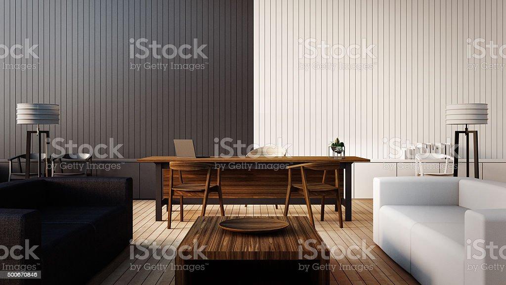 The modern interior of Boss office stock photo