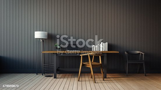 istock The modern interior of home office 479959670