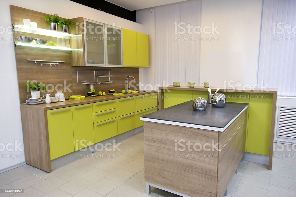 the modern kitchen interior royalty-free stock photo