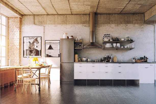 the modern loft kirchen - loft apartment stock pictures, royalty-free photos & images