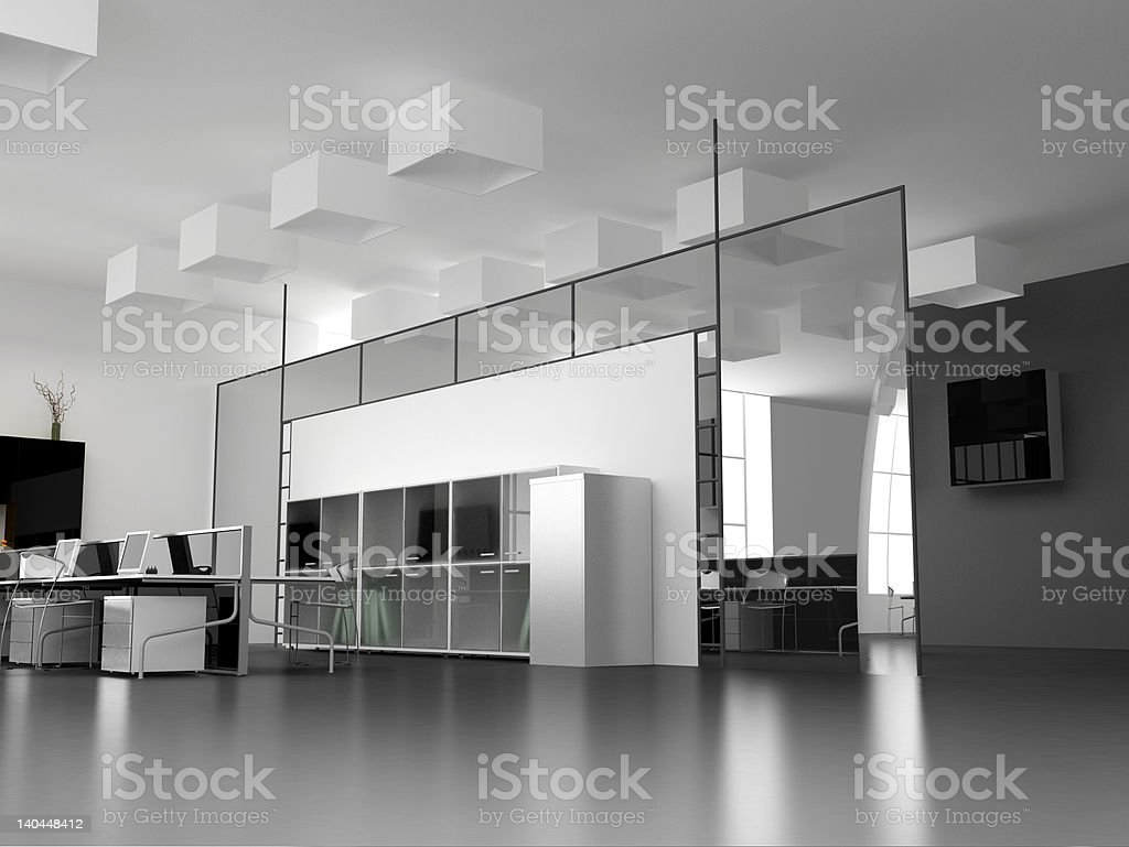 the modern office interior royalty-free stock photo