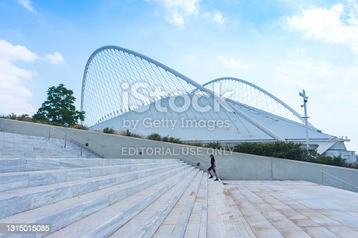 istock The modern Olympic Velodrome designed by the famous spanish architect Santiago Calatrava, in Olympic Sports Complex of Athens, in summer sunny day 1315015085