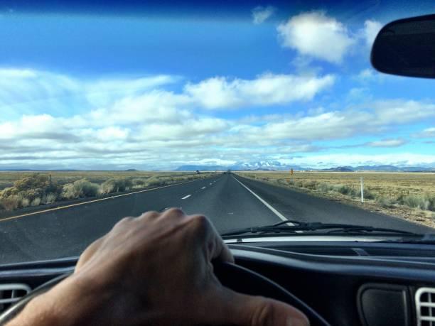 The Mojave Desert drive stock photo