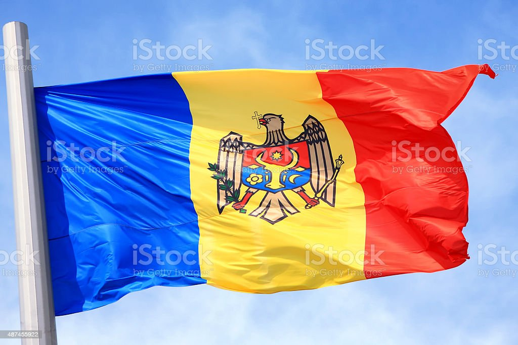The Moldavian flag stock photo