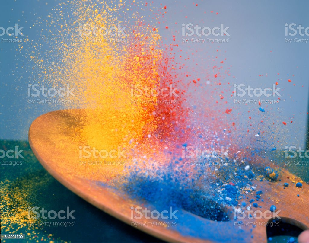 The moment fall palette stock photo