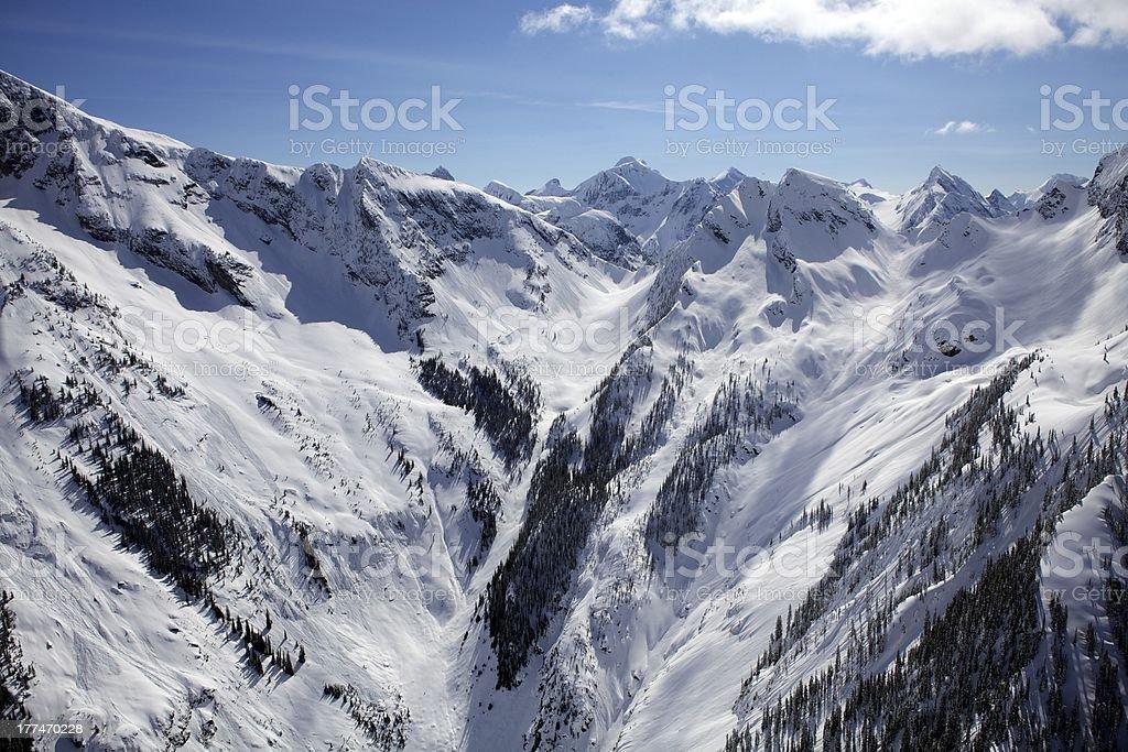 The Monashee Mountains British Columbia Canada royalty-free stock photo