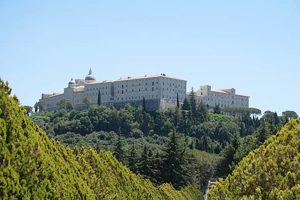 The Monastery of Monte Cassino  abbey monastery stock pictures, royalty-free photos & images