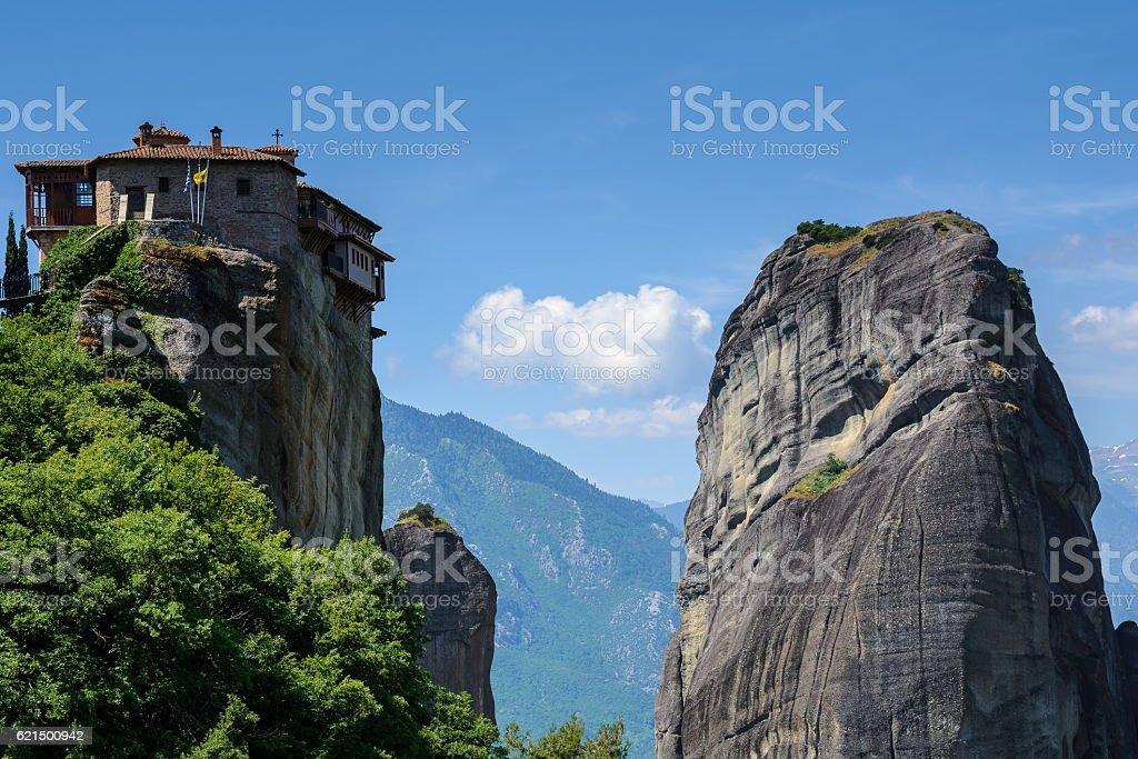 The Monastery of Roussanou at Meteora, Greece Lizenzfreies stock-foto