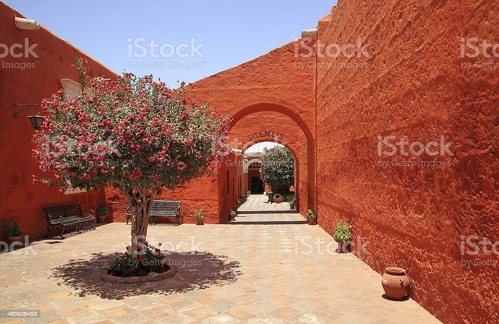 The Monastery of Saint Catherine, Arequipa, Peru stock photo