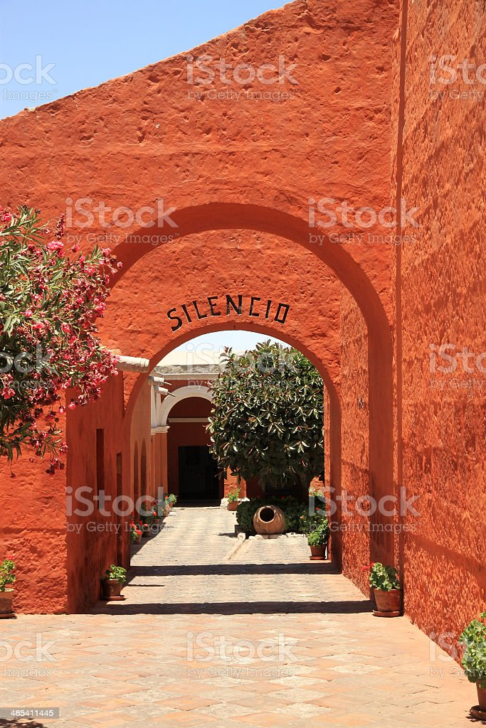 The Monastery of Saint Catherine (Santa Catalina), Arequipa, Peru stock photo