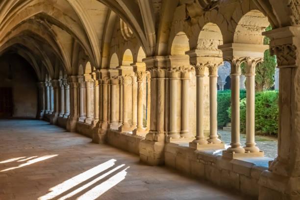 Das Kloster von Santa Maria de Vallbona (Vallbona de Les Monges), die einzige weibliche Kloster der Zisterzienser Route in Katalonien erhalten das klösterliche Leben seit dem XII. Jahrhundert. Katalonien, Spanien – Foto