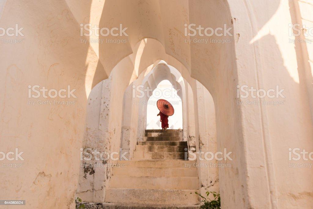 The monk of Mingun stock photo