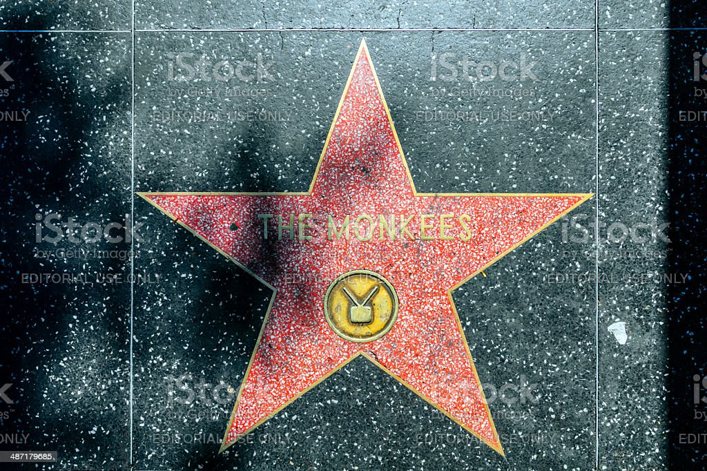 The Monkees di stelle sulla Hollywood Walk of Fame - foto stock