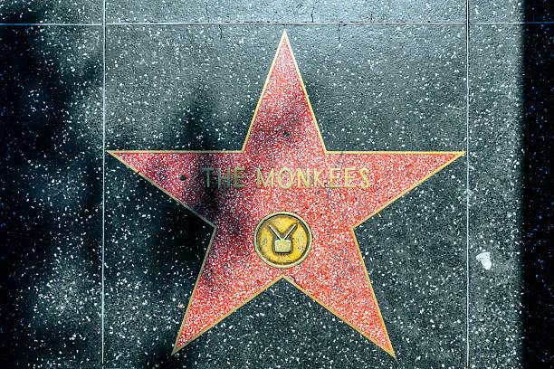 the monkees's stern auf hollywood walk of fame - oscar filme stock-fotos und bilder
