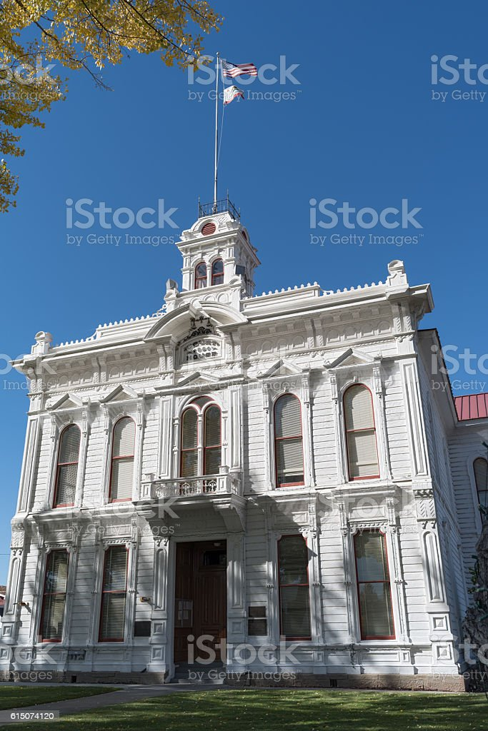 The Mono County Courthouse in Bridgeport stock photo