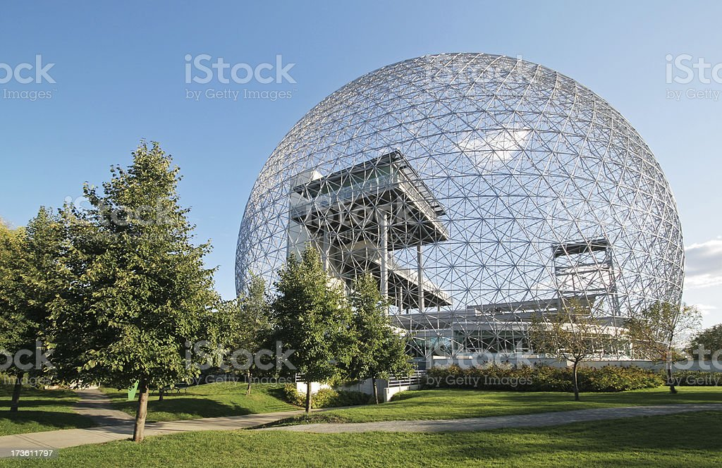 The Montreal Biosphere Structure stock photo