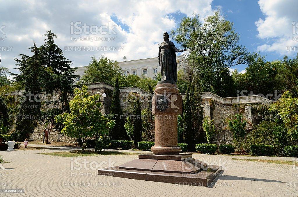 The monument to Empress Catherine II in Sevastopol stock photo