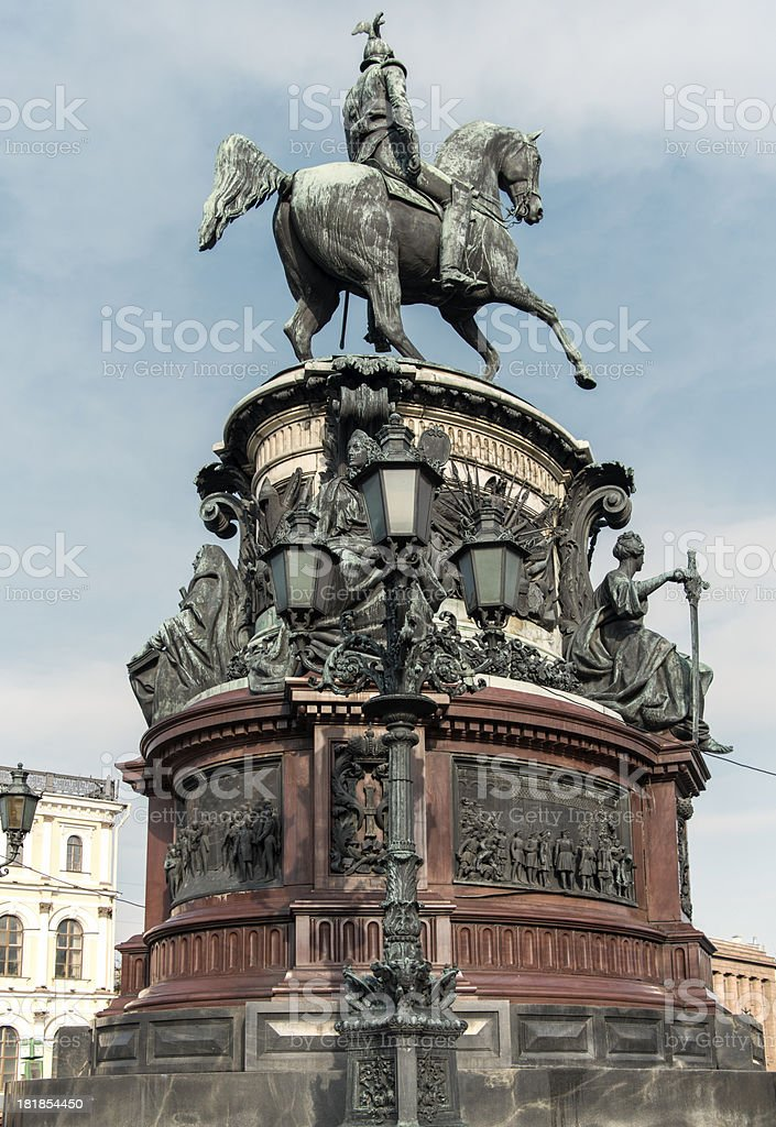 The Monument to Nicholas I royalty-free stock photo