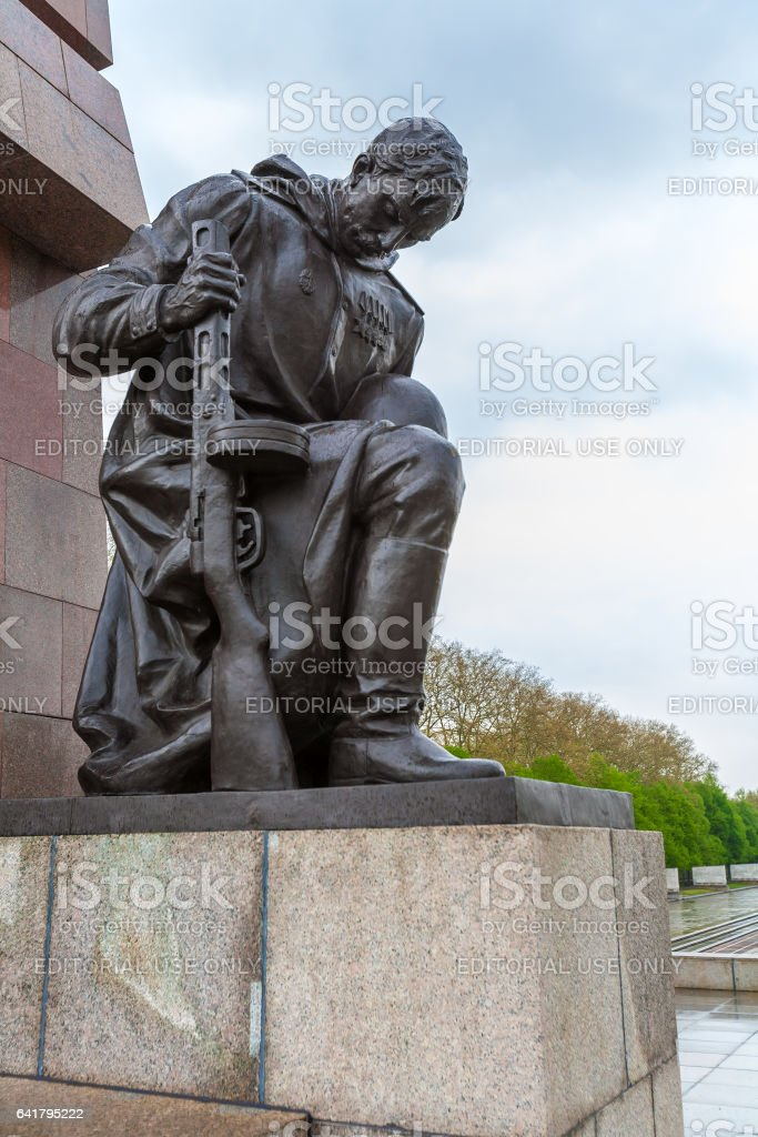 BERLIN, GERMANY - APRIL 2, 2008: The monument to Soviet soldiers in Treptow Park stock photo