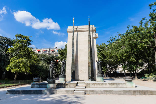 The Monument to the French Declaration of the Rights of Man and of the Citizen stock photo