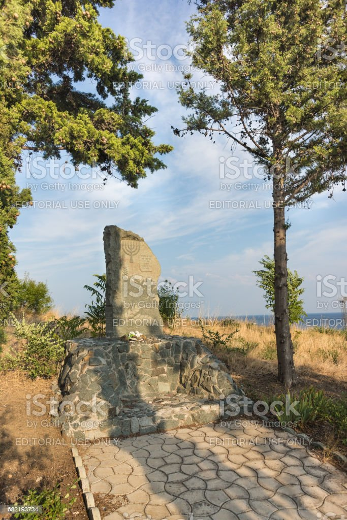 the Monument was executed in 1941, the Jews, established at the expense of the Jewish community of Yalta. stock photo