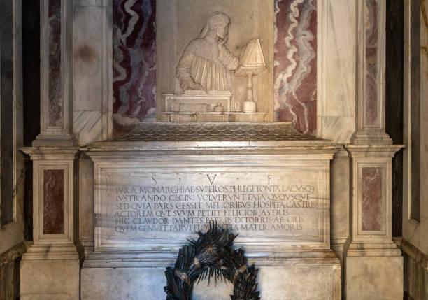 the monumental tomb of the most famous italian poet dante alighieri in ravenna, emilia romagna, italy. - dante alighieri foto e immagini stock