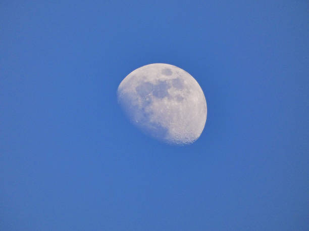 The Moon During The Day stock photo