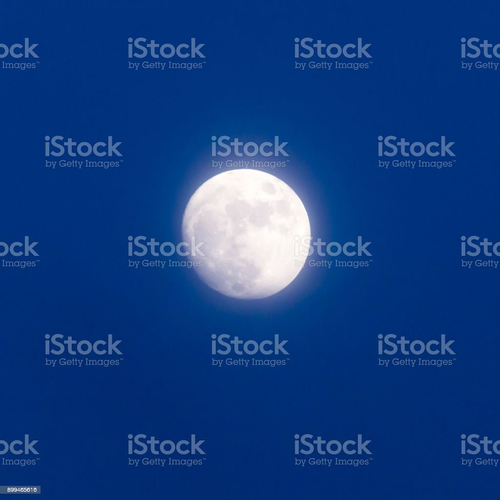 the moon in the sky stock photo