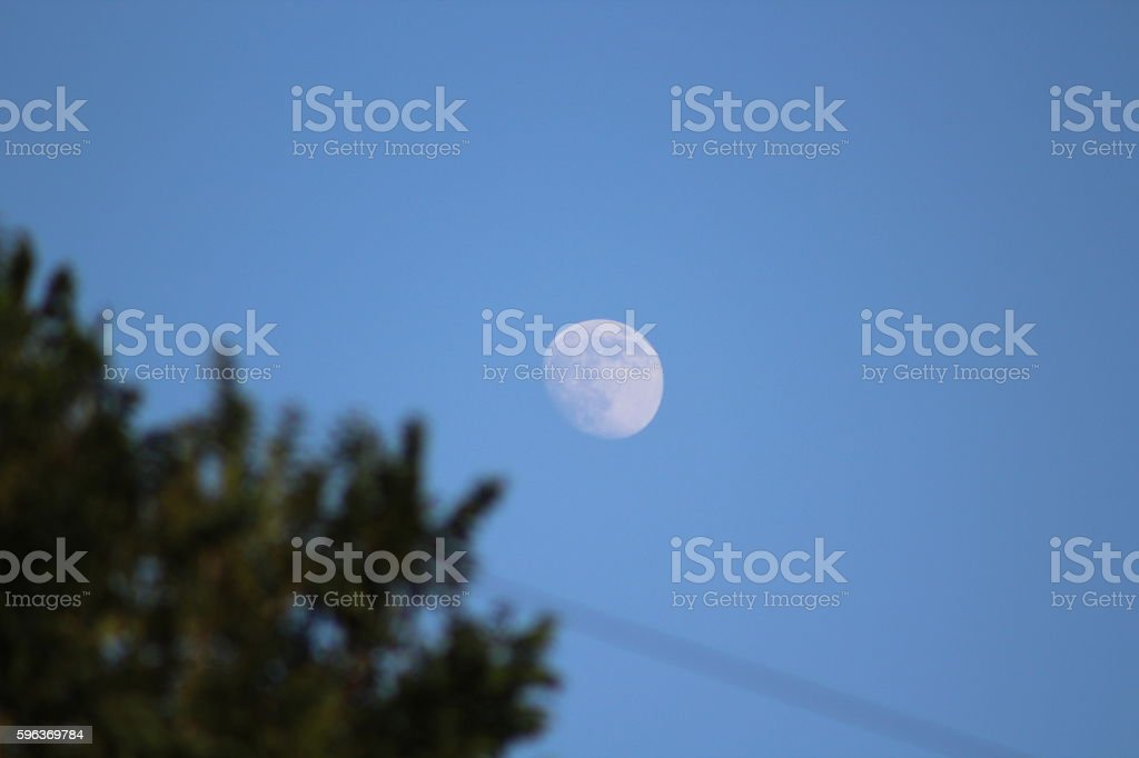 The Moon in the Sun and Me stock photo